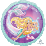 Barbie Mermaid Standard Foil Balloons S60 - 5 PC