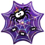 Iridescent Spider Web SuperShape Foil Balloons 22/55cm w x 22/55cm h - P40