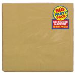 Gold Dinner Napkins 40cm 2ply - 12 PKG/50