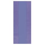 Purple Large Plastic Party Bag 29cm h x 12.5cm w - 12 PKG/25