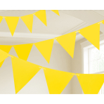 Yellow Paper Pennant Banners 4.5m - 6 PC