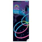 Fancy Glow Tri-Colour Necklaces 60cm - 6 PKG/4