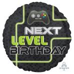 Level Up Birthday Standard Foil Balloons S40 - 5 PC