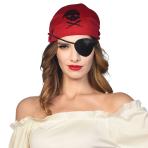 Pirate Skull & Crossbones Satin Eyepatches  - 12 PC