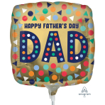 Happy Father's Day Dad Mini Foil Balloons A15 - 5 PC