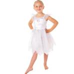Girls White Fairy Costume - Age 1-3 Years - 1 PC