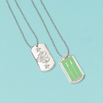 Electroplated Dog Tags    - 12 PKG/12