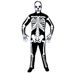 Adults Skeleton Costume - Size Standard/M - 1 PC