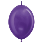 "Metallic Link-O-Loon Solid Violet 551 Latex Balloons 6""/15cm - 100 PC"