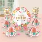 Boho Birthday Girl Table Decorating Kits - 9 PKG/8