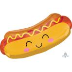 """Hot Dog SuperShape XL Foil Balloons 33""""/83cm w x 15""""/38cm h P30 - 5 PC"""