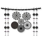 Black & White Halloween Decorating Kits - 10 PKG/11