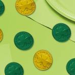 Green & Gold Coin Table Sprinkles 4cm - 6 PKG/100