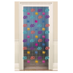 The Party Continues 60th Door Curtains 2m - 6 PKG