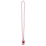 Team Spirit - Whistle on Chain Pink - 12 PKG