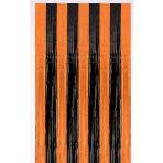 Orange & Black Metallic Door Curtains - 12 PKG