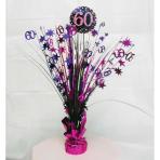 Pink Sparkling Celebration 60th Spray Centrepieces 45cm - 6 PC