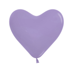 "Fashion Colour Heart Solid Lilac 050 Latex Balloons 6""/15cm - 100 PC"
