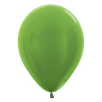 "Metallic Solid Lime Green 531 Latex Balloons 5""/13cm - 100 PC"