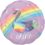 Magical Rainbow Holographic HX Standard Foil Balloons S40 - 5 PC
