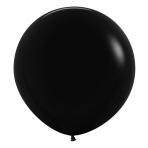 "Fashion Colour Solid Black 080 Latex Balloons 24""/60cm - 3 PC"
