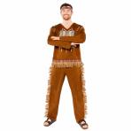 Native American Man Costume - Size S - 1 PC