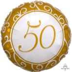 "50th Anniversary Standard Foil Balloons 18""/45cm S40 - 5 PC"