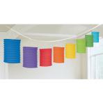 Rainbow Paper Lantern Garlands 3.65m - 6 PC