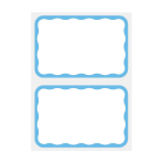 Name Tags Blue Border - 12 PKG/100