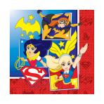 DC Super Hero Girls Luncheon Napkins 33cm - 6 PKG/16