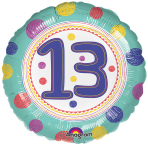 SpotOn 13th Happy Birthday Standard Foil Balloons S40 - 5 PC