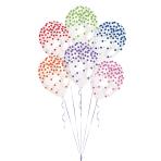 "Printed Confetti Assorted Latex Balloons 11""/27.5cm - 10 PKG/6"