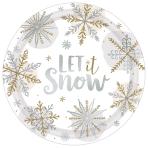 Shining Snow Paper Plates 27cm - 12 PKG/8