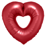 """Open Heart Sangria SuperShape Foil Balloons 25""""/63cm x 26""""/66cm P30 - 5 PC"""