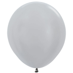 "Satin Solid Silver 481 Latex Balloons 18""/45cm - 25 PC"