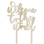 Ready To Pop Welcome to the World Cake Toppers 19cm - 12 PC