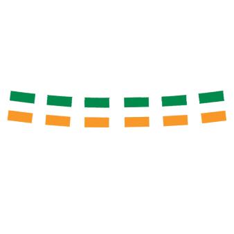 Ireland Flag Small Plastic Bunting 3m - 6 PC
