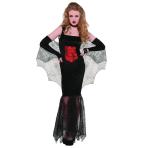 Adults Black Widow Seductress Costume - Size 14-16 - 1 PC