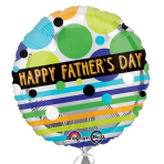 Father's Day Dots & Stripes Standard Foil Balloons S40 - 5 PC