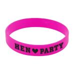 Hen Party Rubber Bracelets - 6 PKG/6