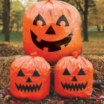 Halloween Pumpkins Lawn Bags - 12 PKG/3