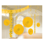 Sunshine Yellow Room Decoration Kits - 6 PKG/18