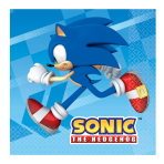 Sonic the Hedgehog Luncheon Napkins 33cm - 6 PKG/16