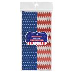 Celebrate USA Metallic Straws - 12 PKG/24