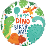 Dino-Mite Party Standard HX Foil Balloons S40 - 5 PC