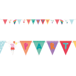 Peppa Pig Pennant Banners 4m - 6 PC