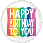 "Rainbow Wishes Jumbo HX Foil Balloons 28""/71cm w x 28""/71cm h P32 - 5 PC"