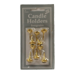 Candle Holder Gold  - 12 PKG/10