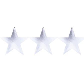 Silver Foil Star Cutouts 23cm - 8 PKG/5