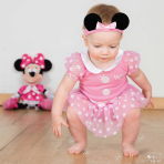 Disney Minnie Mouse Bodysuit with Headband - Age 0-3 Months - 1 PC